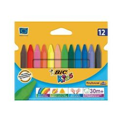 Picture of BIC Kids Plastidecor Triangle 12 Crayons