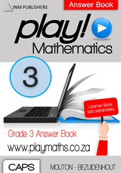 Picture of Play! Mathematics Grade 3 Answer Book