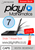 Picture of Play! Mathematics Grade 7 Answer Book
