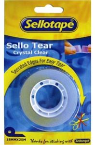 Picture of Sellotape Sello Tear Crystal Clear 18mm x 25m