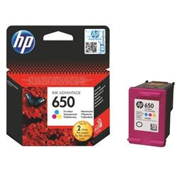 Picture of HP 650 Tri-Colour Ink Cartridge