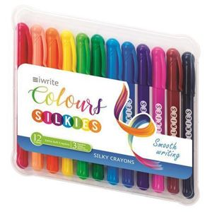 Picture of Iwrite Colours Silkies Extra Soft Crayons 12's