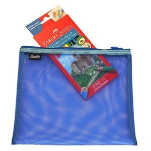 Picture of Bantex A4 Mesh Zippa Bag Blue