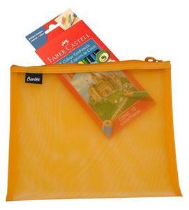 Picture of Bantex A4 Mesh Zippa Bag Orange