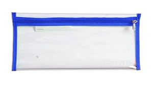 Picture of 4Kids 33cm Clear Exam Pencil Bag with Blue Zip
