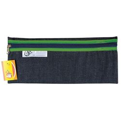 Picture of 4Kids 33 cm Denim Pencil Bag - Green