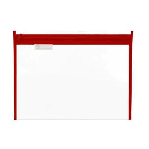 Picture of Treeline Clear PVC Book Bag with Red Zip