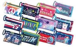 Picture of Butterfly Unbranded 3 Compartment Pencil Bag Assorted Designs Girl