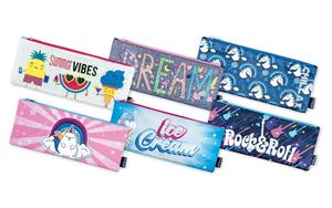 Picture of Butterfly Unbranded 33cm Nylon Pencil Bag Assorted Designs Girl