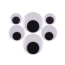 Picture of Dala Googly Eyes Assorted Black and White Large 6's
