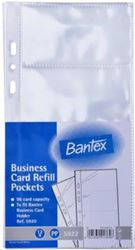 Picture of Bantex Business Card Refill for 5920 12 pages (96 Cards)