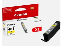 Picture of Canon CLI-481XL Yellow High Yield Printer Ink Cartridge Original