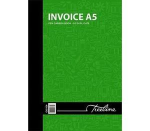 Picture of Treeline A5 Duplicate 100's Invoice Book