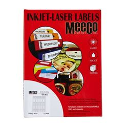 Picture of Meeco A4 Inkjet-Laser labels 35 X 70 24up 100 Sheets