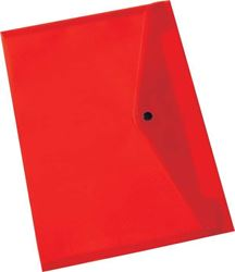 Picture of Bantex A4 Carry Folder With Button Red