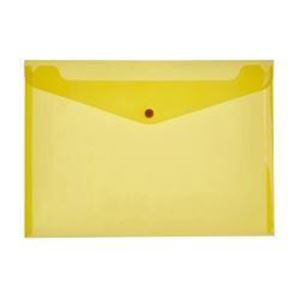 Picture of Croxley A4 Carry Folder with Button Yellow