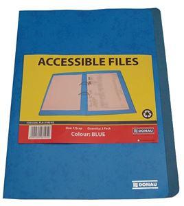 Picture of Donau Foolscap Accessible File Blue Each