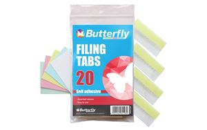 Picture of Butterfly Filing Tabs Assorted Colours 20's