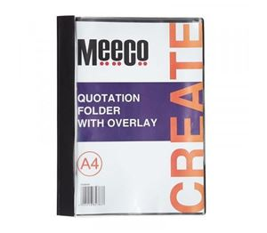 Picture of Meeco A4 Quotation Folder with Overlay