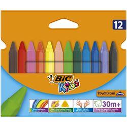 Picture of BIC Plastidecor Triangular Wax Crayons