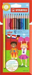 Picture of STABILO Color Colour Pencil Box 12's