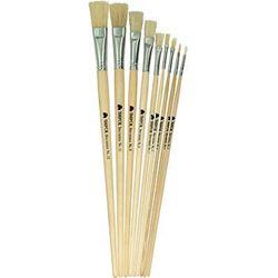 Picture of Trefoil Artist Flat Long Handle Paint Brush Size 4