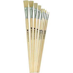 Picture of Trefoil Artist Flat Long Handle Paint Brush Size 5