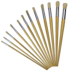 Picture of Treeline Synthetic Round Long Handle Paint Brush
