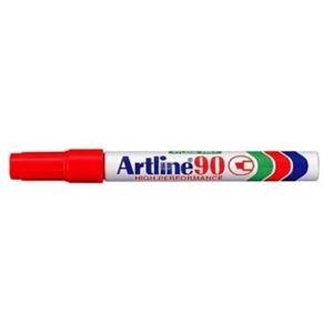 Picture of Artline EK 90 Chisel Point Permanent Marker Red