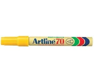 Picture of Artline EK 70 Permanent Bullet Point Marker Yellow