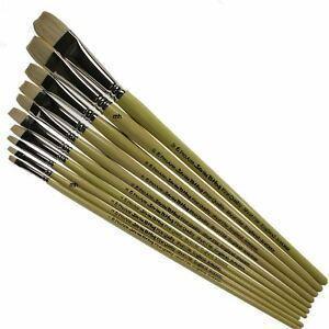 Picture of Pro Art 579 Long Handle Flat Paint Brush Size 10