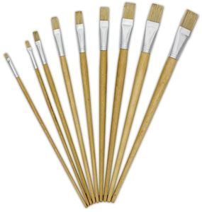 Picture of Treeline Synthetic Flat Long Handle Paint Brush Size 6