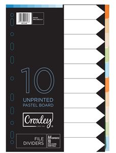Picture of Croxley A4 Pastel Board File Dividers