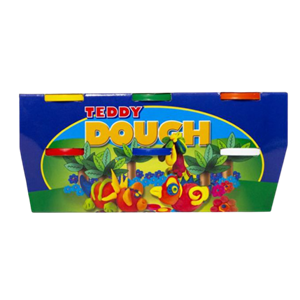 Picture of Teddy Primary Colours Dough Kit 6 x 100g kit
