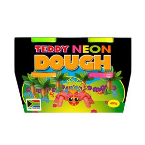 Picture of Teddy Neon dough kit 4 x 100g kit