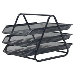 Picture of SDS 3 Tier Mesh Letter Tray Black