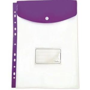 Picture of Treeline A4 Filing Carry Folder with Stud Purple