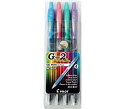 Picture of Pilot BL-G2 7 Retractable Roller Ball Gel Ink Metallic Colours Wallet 4