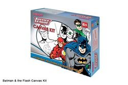 Picture of Dala Licenced Canvas Kit Justice League: Batman & The Flash