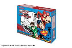 Picture of Dala Licenced Canvas Kit Justice League: Superman & the Green Lantern