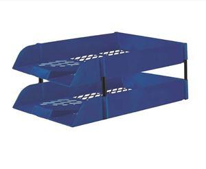Picture of Treeline Plastic Desk Letter Tray Blue