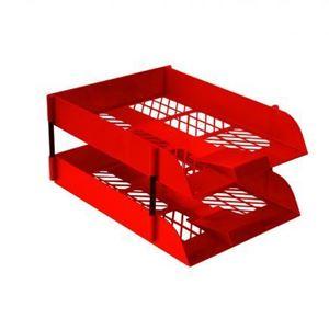 Picture of Treeline Plastic Desk Letter Tray Red