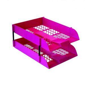 Picture of Treeline Plastic Desk Letter Tray Hot Pink