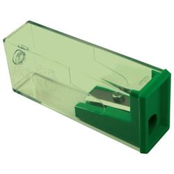 Picture of Faber-Castell Plastic Sharpener with Wastebox Green