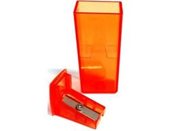 Picture of Faber-Castell Plastic Sharpener with Wastebox Orange