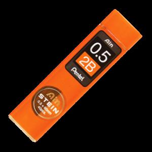 Picture of Pentel Ain Stein 0.5mm Refill Lead 40 per Tube 2B