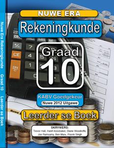 Picture of Nuwe Era Rekeningkunde Graad 10 Leerder Boek