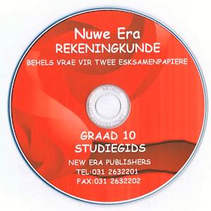 Picture of Nuwe Era Rekeningkunde Graad 10 Studiegids CD