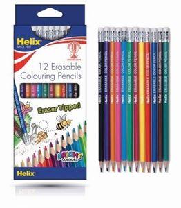 Picture of Helix Erasable Colour Pencils