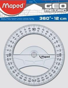 Picture of Maped 360 degree Protractor 12cm